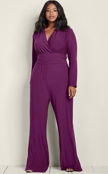 Plus Size Jumpsuits For Evening In Bold Colors Plus Size Jumpsuit Plus Size Outfits Jumpsuits For Women