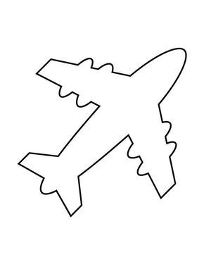 Aeroplane Airplane Applique Pattern Pdf Template Applique Designs Airplane Drawing Airplane Crafts Airplane Quilt