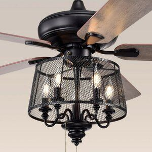 Gracie Oaks Croteau 5 Blade Ceiling Fan Light Kit Included In