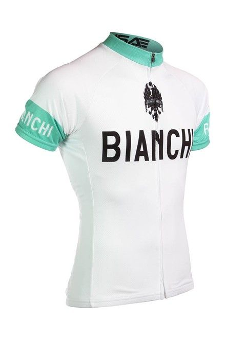 Bianchi Team Bianchi White Jersey White Jersey Cycling Outfit Team Cycling Jerseys