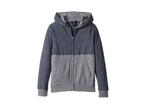 Volcom Little Boys Wowzer Colorblock Zip Up Hooded Sweatshirt