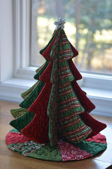 Tabletop Tannenbaum Fabric Christmas Trees Christmas Sewing Projects Fabric Christmas Ornaments