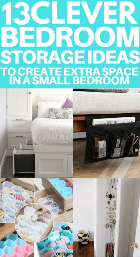 13 Mind Blowing Small Bedroom Storage Ideas For Small Apartments In 2020 Small Bedroom Storage Bedroom Organization Diy Bedroom Ideas For Small Rooms Women