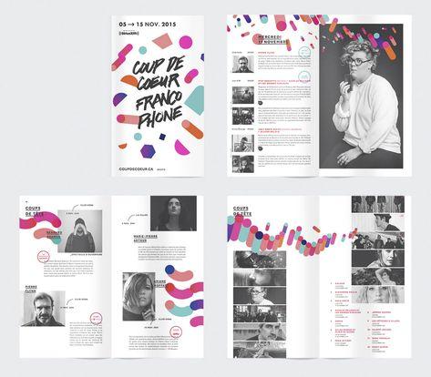 L'ensemble s'articule autour d'éclats géométriques colorés qui illustrent la diversité de la programmation, d'une typographie dessinée à la main et de sobres dégradés. En plein dans les tendances graphiques de 2015.