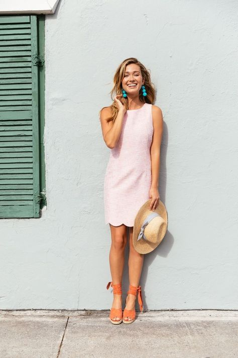 Cool 49 Best Modest Summer Outfits Ideas That Looks Cool Preppy Summer Outfits, Preppy Dresses, Cute Spring Outfits, Summer Dresses, Preppy Summer Style, Womens Preppy Outfits, Preppy Ideas, Summer Brunch Outfit, Preppy Casual