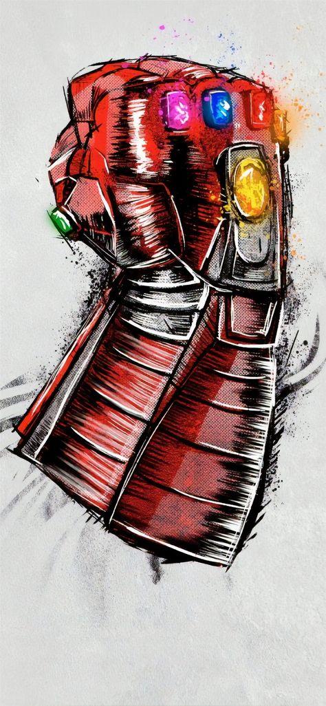 avengers endgame gauntlet sketch poster Wallpaper