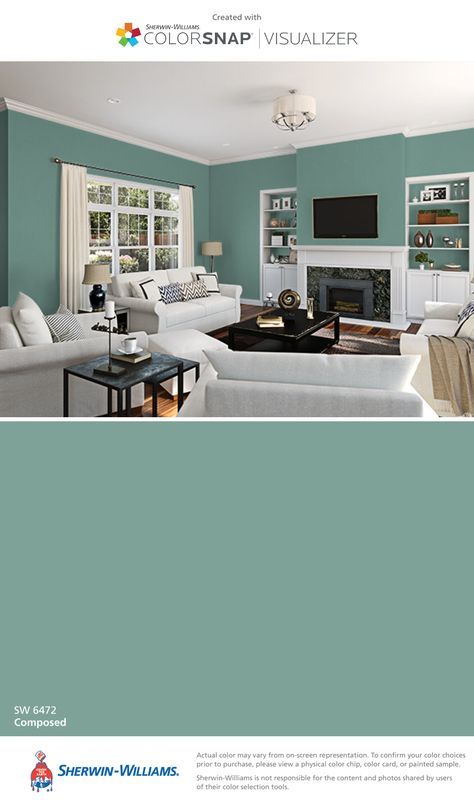 I found this color with ColorSnap® Visualizer for iPhone by Sherwin-Williams: Composed (SW 6472).