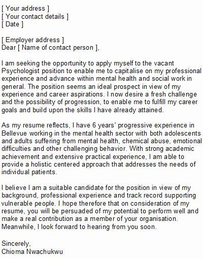 Psychology sample cover letter best papers editor site for phd