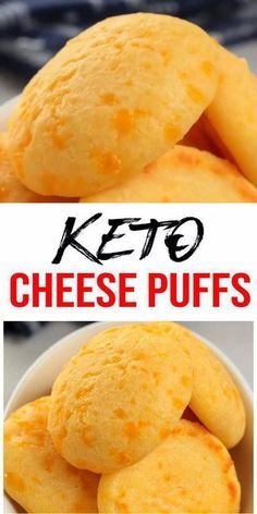 Keto Cheese Puffs! AMAZING ketogenic diet cheese puffs - Easy simple ingredient cheese low carb puffs.. BEST keto dinner keto snack keto side dish or keto lunch idea.Try a simple & quick homemade #keto cheese puffs easy ingredient.Gluten free sugar free healthy keto cheese recipe.Great sweet & savory treat for a low carb diet.Great for Thanksgiving or Christmas. Great on the go snack idea or make ahead after meal idea. #easyrecipe  Keto Cheese Puffs! AMAZING ketogenic diet cheese puffs - Easy si