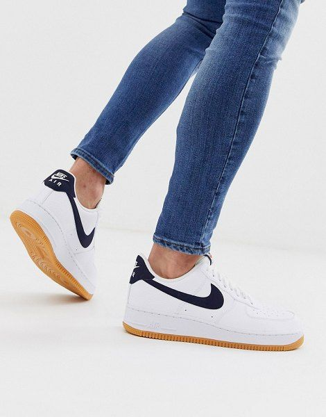 nacido Tectónico cada vez  Nike air force 1 sneakers with navy swoosh and gum sole. #nike #sneakers # shoes #activewear | Nike shoes maroon, Nike, Nike shoes air max