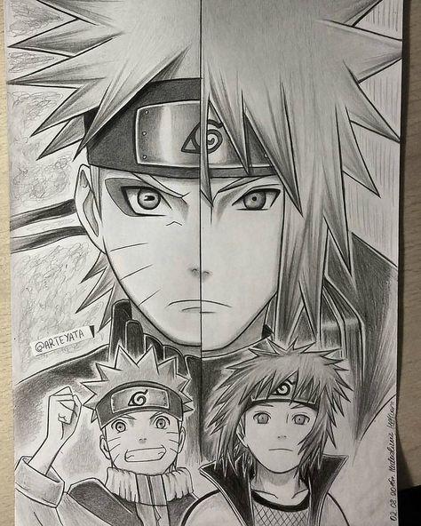 Allitos Naruto And Minato Naruto Sketch Naruto Minato Naruto