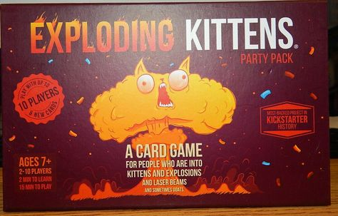 Other Card Games And Poker 2552 Exploding Kittens Card Game Party Pack Buy It Now Only 20 77 On Exploding Kittens Exploding Kittens Card Game Card Games