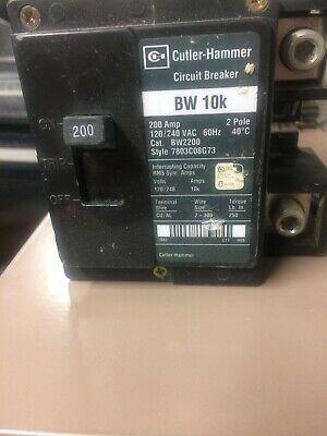 Details About Cutler Hammer Bw2200 Bw 10k 200 Amp 2 Pole 120 240 Vac Main Circuit Breaker Breakers Vac Cutler