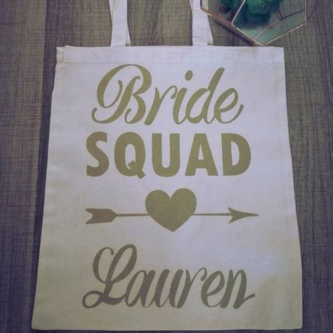 e090d264d402 Bride Squad Custom Tote Bags perfect for gifts South Africa ...