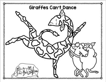 Giraffes Can T Dance Free Coloring Pages Giraffes Cant Dance