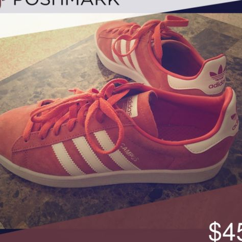 Adidas Shoes 80  OFF    Adidas Campus Sneakers Coral Suede Men   s 8 5 Men   s 8 5 Like New selling for  45 or best offer adidas Shoes Sneakers #Adidas #Adidasshoes #shoes #style #Accessories #shopping #styles #outfit #pretty #girl #girls #beauty #beautiful #me #cute #stylish #design #fashion #outfits #diy #design