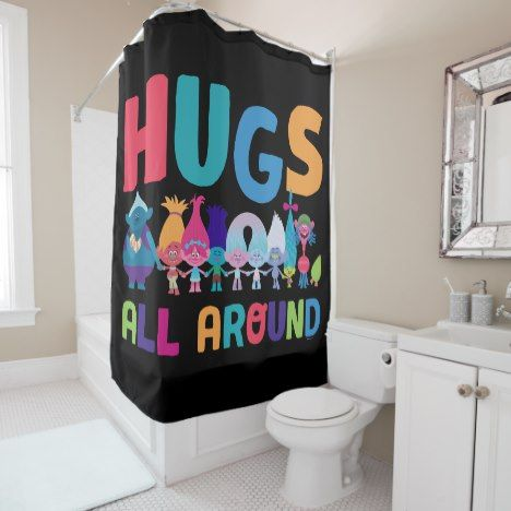 Trolls Hugs All Around Shower Curtain Zazzle Com In 2020