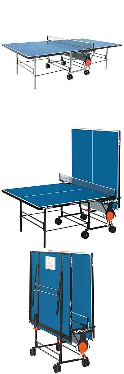 Tables 97075: Butterfly Outdoor Playback Table Tennis Table Blue ...