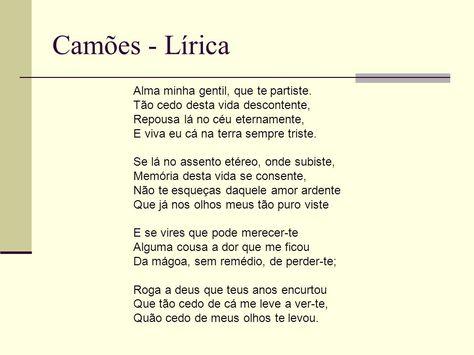 Luis De Camoes Alma Minha Gentil Que Te Partiste Citacoes