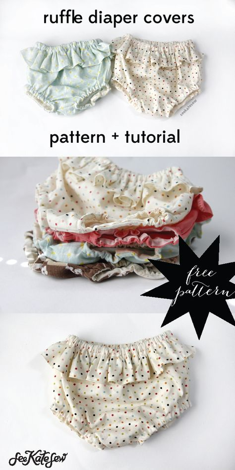 belly + baby // ruffle diaper covers pattern + tutorial - see kate sew