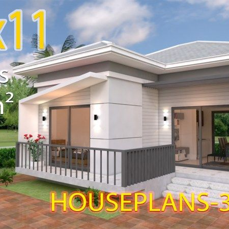 Small Home Design Plan 5 4x10m With 3 Bedroom Samphoas Plan Interior Design Plan Modern House Plans Home Design Plans