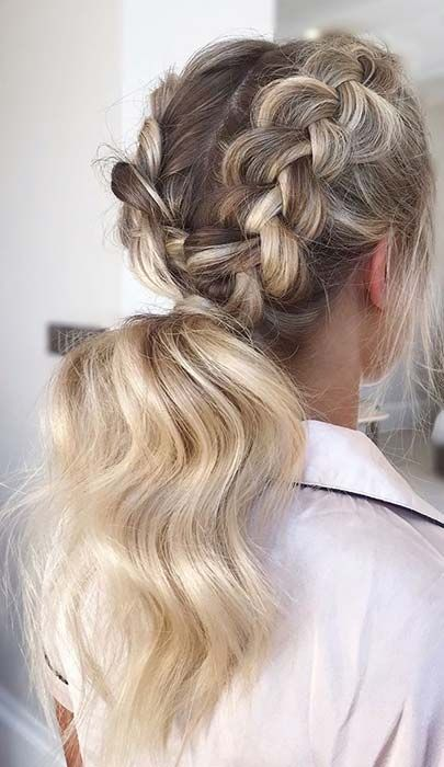 45 Elegant Ponytail Hairstyles For Special Occasions Page 4 Of 4 Stayglam Braids For Long Hair Dutch Braid Ponytail Braided Hairstyles
