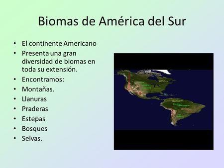 Biomas De América Del Sur Biomas Ecosistemas Continentes