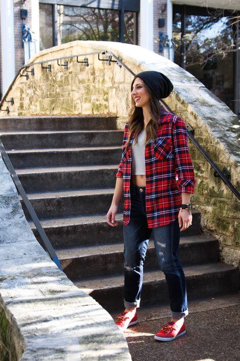 OTK Boots // XO, Maci (With images) | Womens plaid shirt