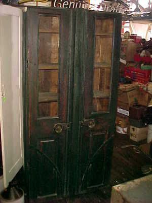 Antique C 1800's Primitive Double Door Jelly Cupboard Planked ...