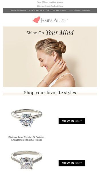 Remember These From James Allen Engagement Rings Cyber Monday Email James Allen