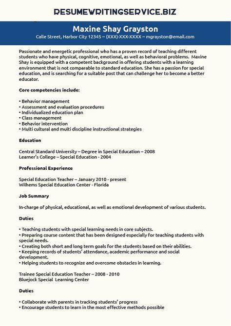 special education teacher resume sample studentcareer special education program specialist sample resume - Special Education Program Specialist Sample Resume