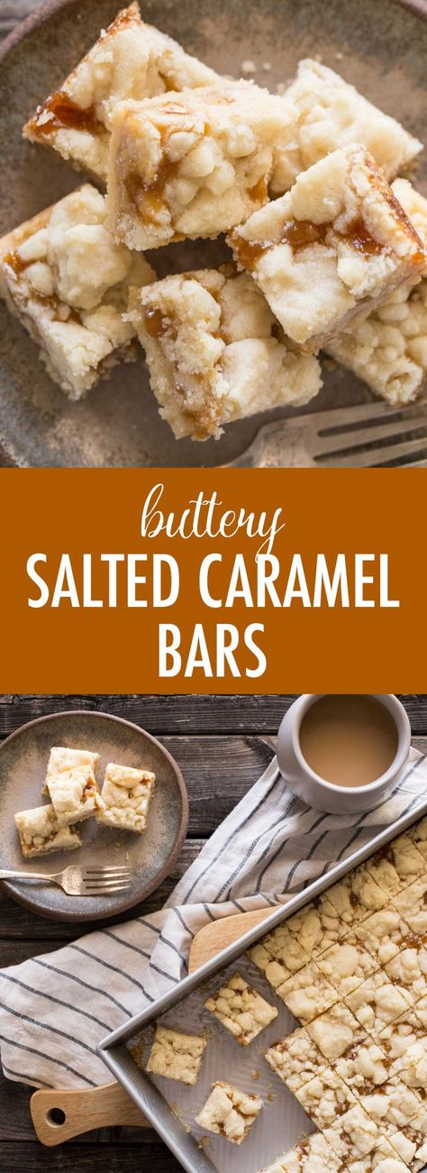 These Buttery Salted Caramel Bars taste so amazingly rich and delicious, you'd never guess how easy they are to make. This recipe makes a big batch so you'll have plenty to share! #saltedcaramelbars #buttery #saltedcaramel #bigbatch #dessert