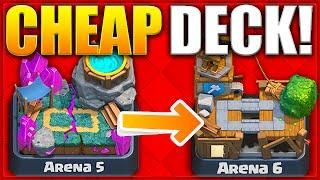 Clash Royale Win Every Time Cheap Elixir Battle Deck New Arena 5 6 Deck Strategy For Trophies Clash Royale Clash Royale Deck Battle