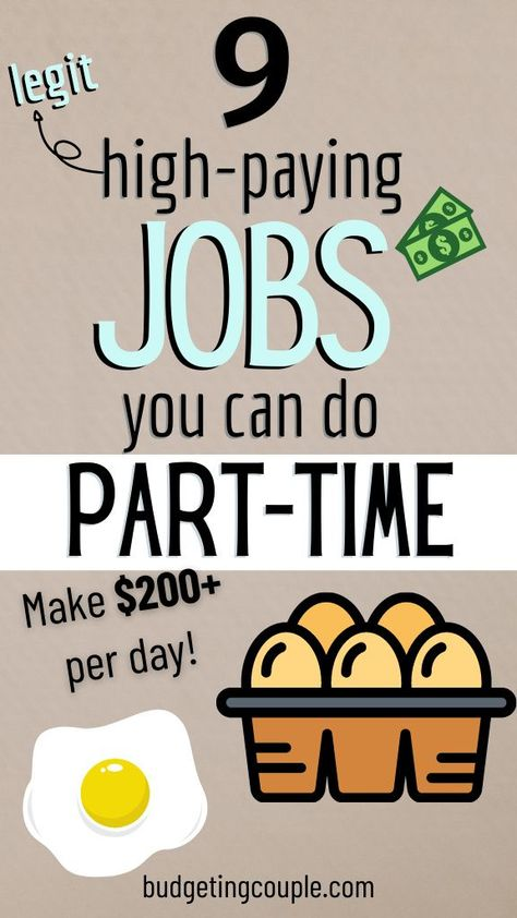 9 High-Paying Jobs You Can do Part Time (make $200+/day)