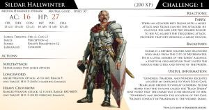 Npc Sildar Hallwinter By Almega 3 Lost Mines Of Phandelver Npcs And Monster Stats Dungeons And Dragons Homebrew D D Dungeons And Dragons Dnd