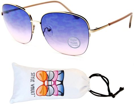 b63879c95b Wm551-vp Metal Butterfly Unique Sunglasses - F3121r Gold Beige-bluish Pink  - CZ12J3C21RR - Men s Sunglasses