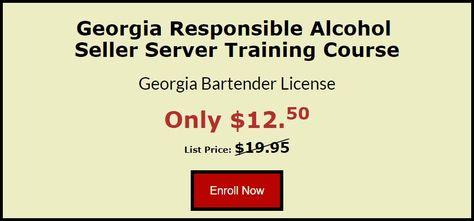 Georgia Alcohol Server Certificate Course Alcohol No Response