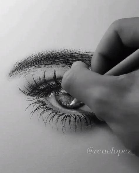Great eye drawing by Rene Lopezn