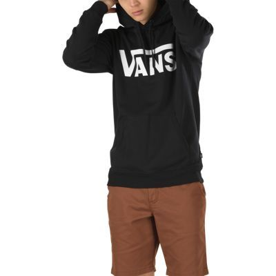 Buy Vans Classic Hoodie Cement HeatherBlack at the longboard shop in The Hague, Netherlands