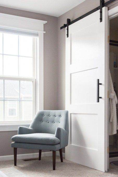 How To Build A Modern Barn Door For Your Home Step By Step Instructions For Building A Craftsman Style Door And Barn Style Doors Barn Door Handles Modern Barn