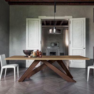Tavolo Moderno In Rovere.Bonaldo Big Table Tavolo In Legno Di Rovere E Acciaio Made In