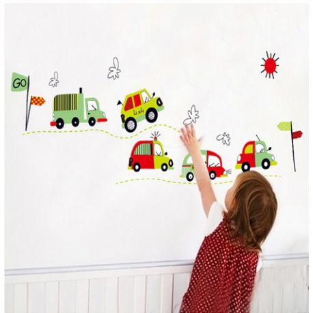 Sticker voitures, camions, bus pour chambre d\'enfants #deco ...