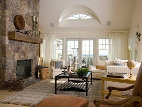 steinwand im wohnzimmer steinwände innen dekosteine wand Pinterest