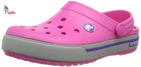 crocs Crocband II.5 Clog Kids, Unisex - Kinder Clogs, Pink (Neon Magenta/Bluebell), 19/21 EU