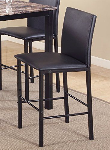 Roundhill Furniture Pc007bk Citico Metal Counter Height Dining Chairs Frame Set Of 4 Metal Dining Chairs Upholstered Dining Chairs Furniture