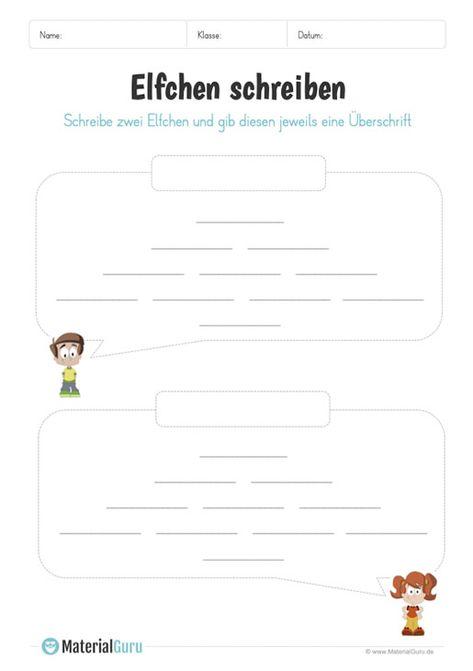 Vorlage 2 Elfchen Schreiben Elfchen Schreiben Elfchen Schreiben