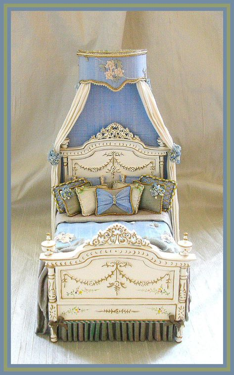 Simply silk gorgeous dressed miniature bed