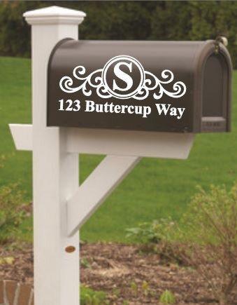 Mailbox Decals Set Of 1 Or 2 Mailbox Numbers Mailbox Address Decal Mailbox Initial Custom Mailbox Decal Cu Mailbox Decals Mailbox Stickers Mailbox Numbers