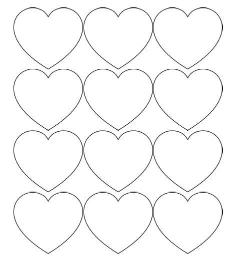 Free Printable Heart Templates Large Medium Small Stencils