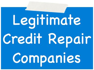 Legitimate Credit Repair Companies >> Legitimate Credit Repair Companies Revealed Exactly How